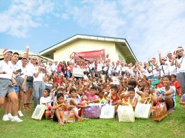 BJMP8 Christmas Gift Giving at Planza, Babatngon, Leyte